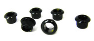 6pc. Black Press-Fit Guitar Machine Head / Tuner Bushings