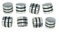 8-pack Chrome Dome Knobs with Speed Rings