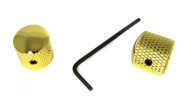 2-pack Knurled Gold Dome Knobs with Set Screws