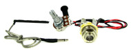 Ukulele Rod Piezo Harness with Volume & Long-Shaft Phone Jack - NO SOLDER