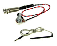 Ukulele Rod Piezo Harness with Volume & Endpin Strap Button Jack - NO SOLDER