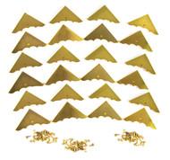 24pc. Shiny Gold Box Corners with Screws