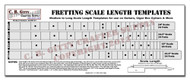 "Fretting Scale Length Template - 4 Scales Medium to Long (24""-25.5"")"