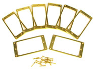 8pc. Gold Full-Size Humbucker Rings
