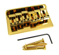 Gold Adjustable Bridge for Electric Guitar