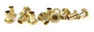 12pc. Short-shank Brass Eyelets/Economy String Ferrules