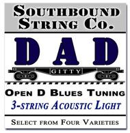 "3-String Open D ""DAD"" Modal/Blues String Sets - Choose from 4 Set Varieties!"