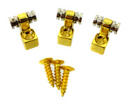 "3pc. Gold ""Roller-style"" String Retainers"