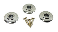 """3pc. Chrome """"Disk-style"""" String Retainers"""