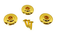 "3pc. Gold ""Disk-style"" String Retainers"