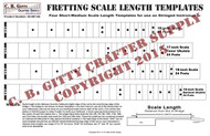 "Fretting Scale Length Template - 4 Short-to-Medium-length Scales (16-19"")"