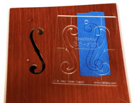9pc. set of custom F-hole Stencil Templates - 4 different classic shapes in a range of sizes