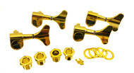 4pc. Gold Sealed-Gear Bass Guitar Tuners - 4-Right Alignment