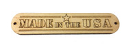 "2pc. ""Made in the USA"" Hardwood Badges (Style 1) - Choose Mahogany or Maple"