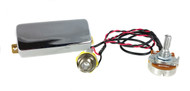 Chrome Snake Oil Humbucker Pre-Wired Pickup Harness w/ Volume Control