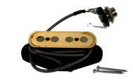 """Electric Delta"" 4-pole Electric Cigar Box Guitar Pickup by Foundry-Tone - No Soldering!"