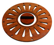 Padauk Cover Plate & Biscuit Bridge Combo for 5.5-inch Resonator Cones