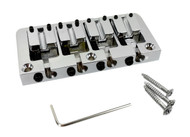 Chrome Adjustable 4-string Bass Bridge with Screws
