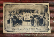 "Street Band ""Hard Times Make Great Music "" Cigar Box Nation Poster -  featuring vintage photo"
