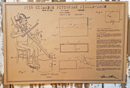 """1936 Cigar Box Pitchfork Fiddle-Drum"" Musical Oddities Poster Series #4 - 18x12 reprint of a vintage U. S. Patent"