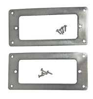 2pc. Stainless Steel Mini Humbucker Pickup Cover Rings with Screws