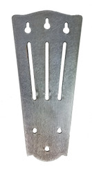 "Stainless Steel ""Slotted"" Tailpiece for 3-string Cigar Box Guitars"