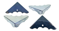 CLEARANCE: 8pc. Shiny Nickel Box Corners (Scratched)