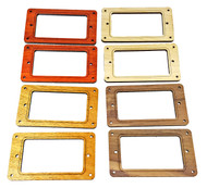 2pc. Full-Size Humbucker Pickup Cover Rings Style 1- Choose from 4 Wood Types!