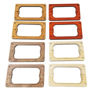 "2pc. ""Dual Rail"" Humbucker Pickup Cover Rings - Choose from 4 Wood Types!"