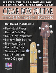 Technique Book for 3- and 4-string Cigar Box Guitar - 208 Pages - Master your Instrument!