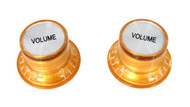 2pc. Gold Top-hat Style Acrylic Volume Knobs
