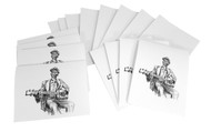 "8pc. ""Cigar Box Blues Man"" Greeting Card Set with Envelopes"