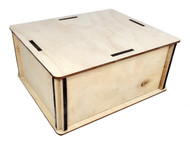 "Amp-size DIY Wooden Box Enclosure Kit - 6"" x 7"" x 3.25"" - Easy to Assemble!"