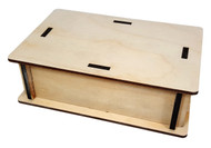 "Pedal-size DIY Wooden Box Enclosure Kit - 4"" x 6"" x 2"" - Easy to Assemble!"