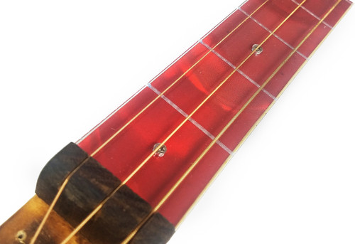 red swirl cigar box guitar 1 5 acrylic fretboard underlay c b gitty crafter supply. Black Bedroom Furniture Sets. Home Design Ideas