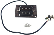 """DeltaBucker"" 3-string Rosewood Cigar Box Guitar Humbucker Pickup pre-wired with Jack  - No Soldering!"