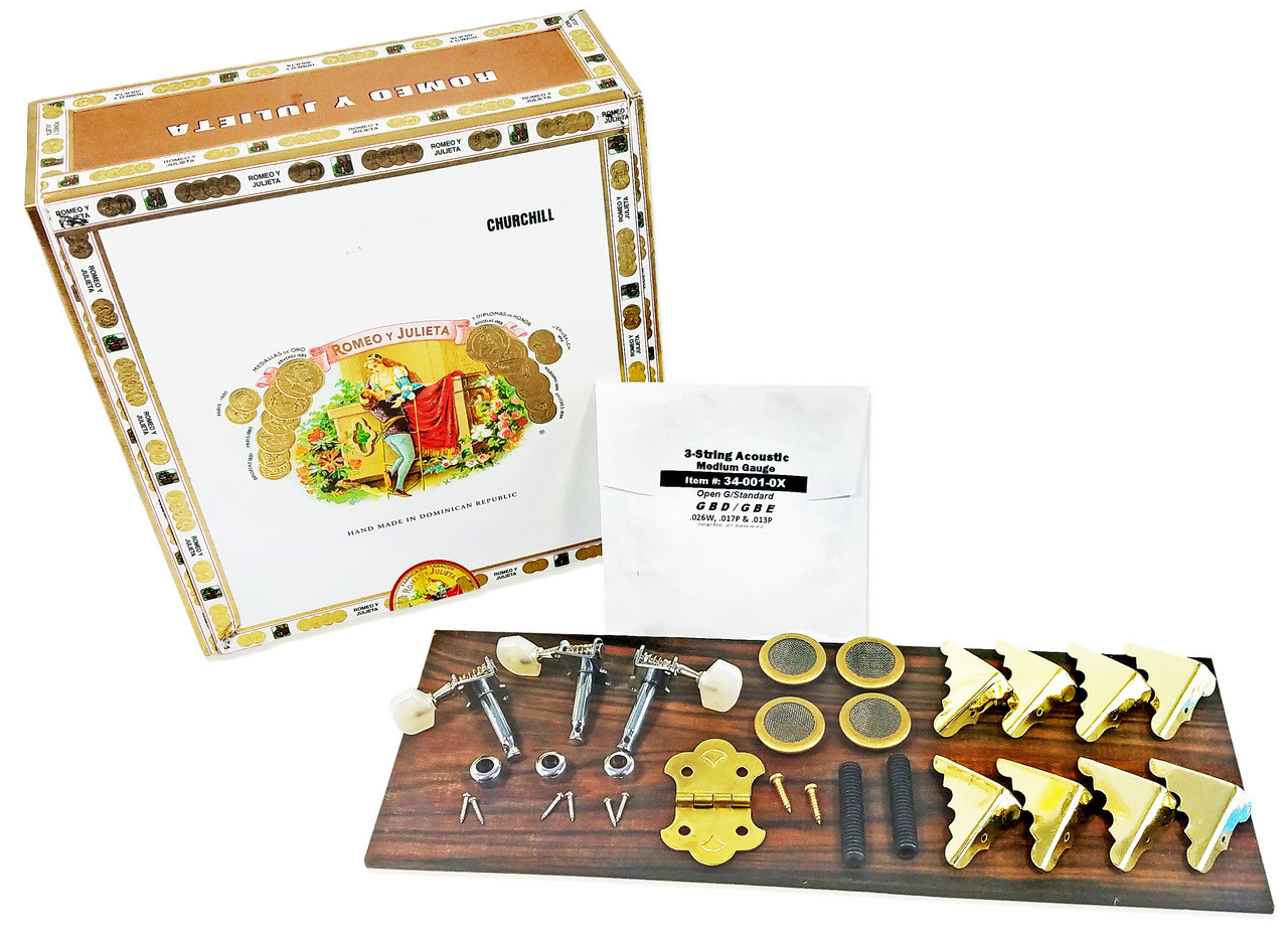 Free Plans How To Build A Cigar Box Guitar Download Electric Wiring Harness Buy Now 3 String Kit With Guide Great For Woodworkers