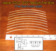 Jescar Medium/Medium GOLD EVO Fret Wire (6 ft)