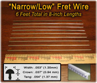 Narrow/Low Nickel-Silver Fret Wire (6 ft)