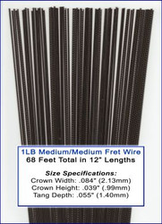 1LB Bulk Fret Wire - Medium/Medium Nickel-Silver