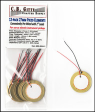 12-pack 27mm piezos with leads
