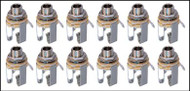 "12-pack Neutrik 1/4"" Stereo Jacks"