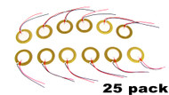 25-pack 20mm Piezos with Leads