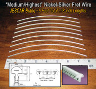 Jescar Medium/Highest Nickel-Silver Fret Wire (6 ft)