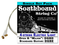 Electric Light 4-String Cigar Box Guitar Strings - Open G/Open D/Standard Tunings - DBGD/DF#AD/DGBE