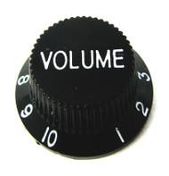 8-pack Black Stratocaster-style Volume Knobs