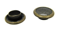 12pc. 15mm Antique Brass Screened Grommets