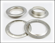 6-pack Large (1.5-inch) Satin Silver Grommets w/Washers