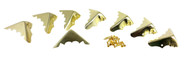 8-pack Brass-Plated Box Corners (Crimped Back)