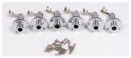 6pc. Chrome Screw-Mount Stereo Endpin/Strap Button Jack